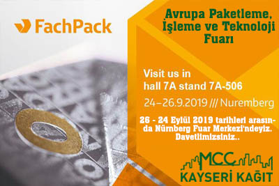 The packaging industry will meet on 24-26 September 2019 at the Nuremberg Exhibition Center ...